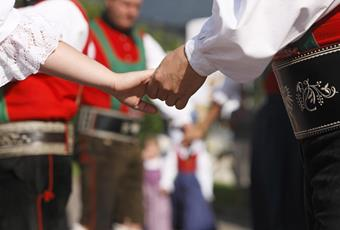 Traditional tyrolean festival