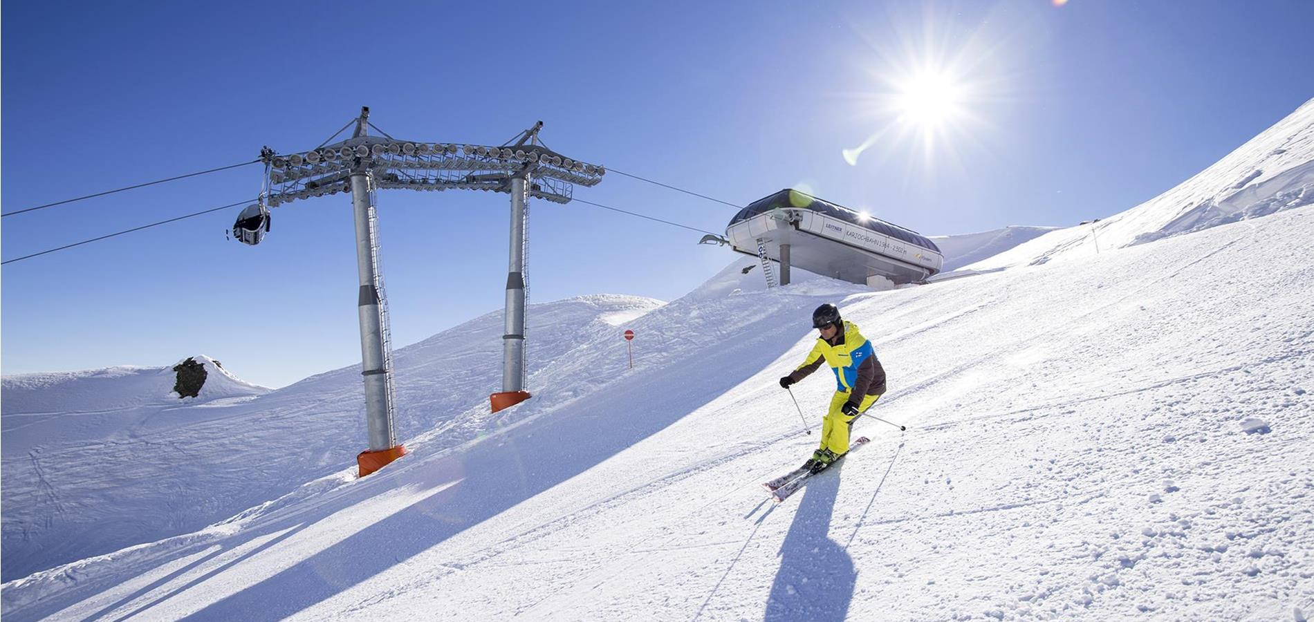Skiing in Val Passiria Valley