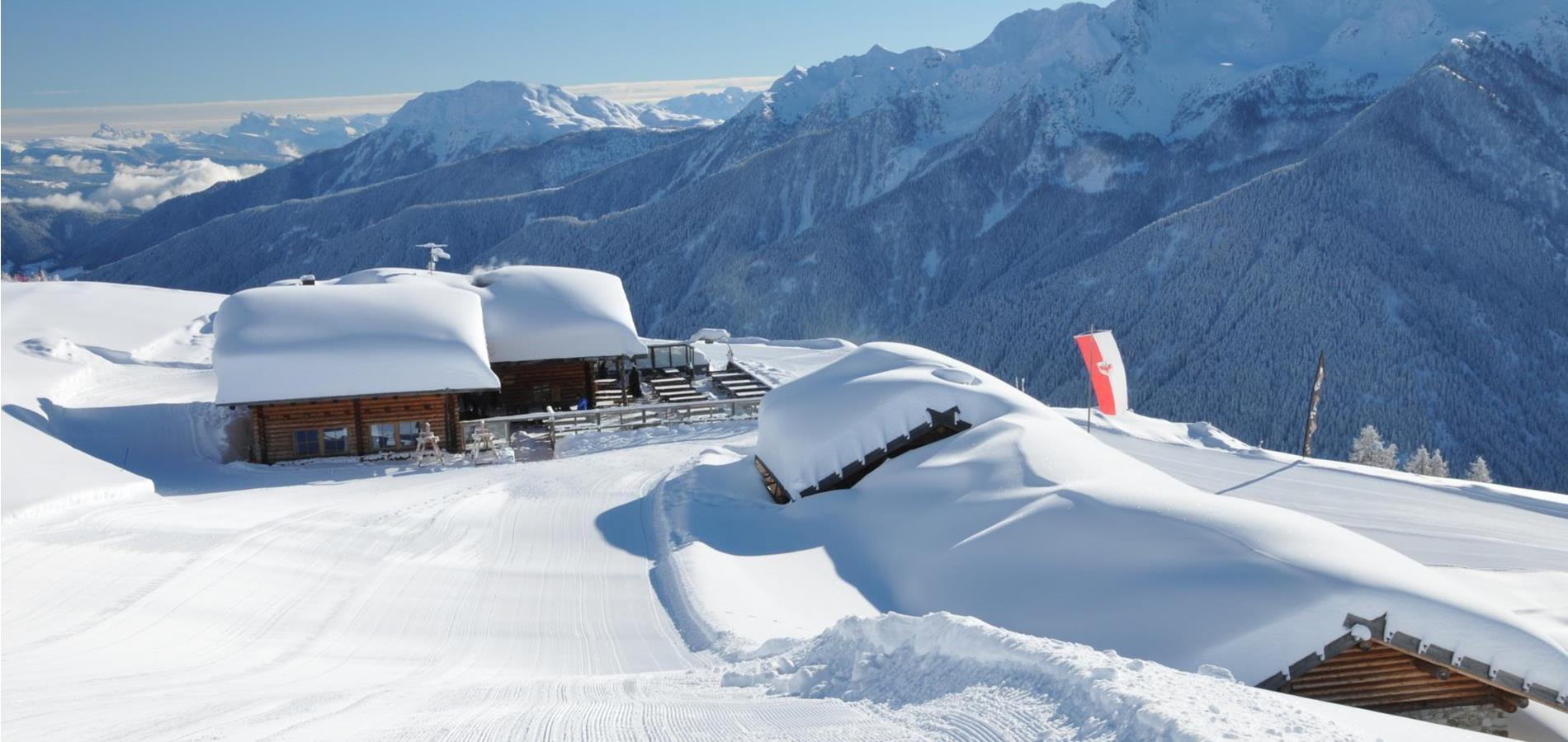 Alpine Huts & Dining at the Schwemmalm in Winter
