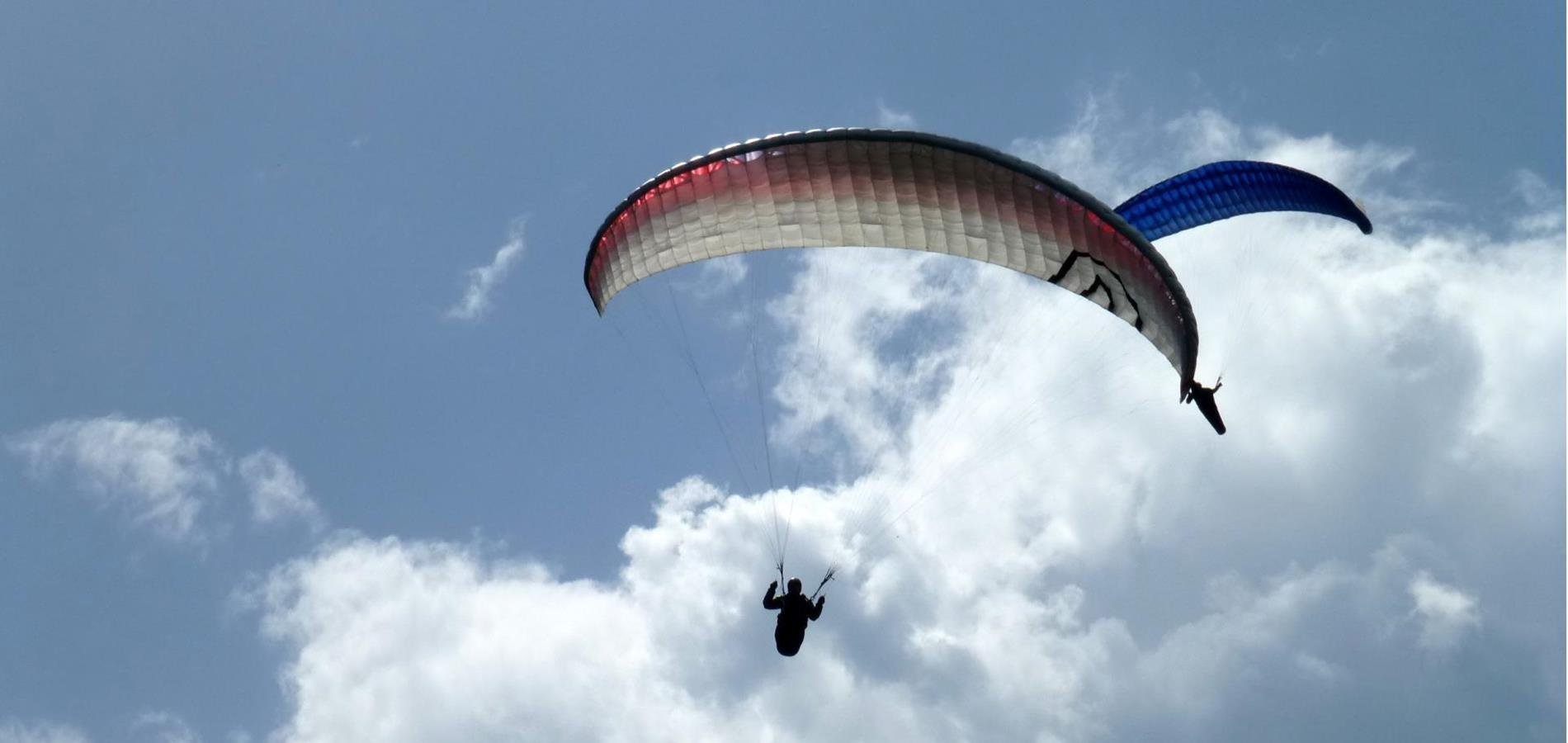 Paragliding in the Ultental Valley