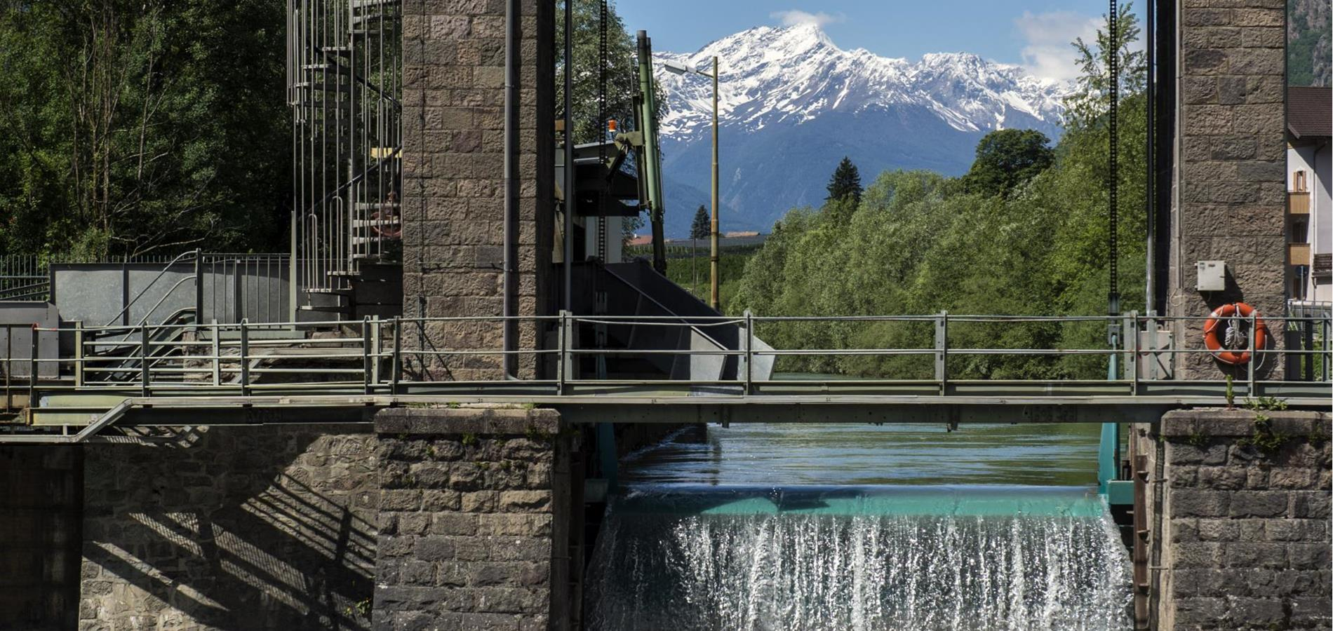 Hydro-Electricity Station Töll/Tel next to Merano
