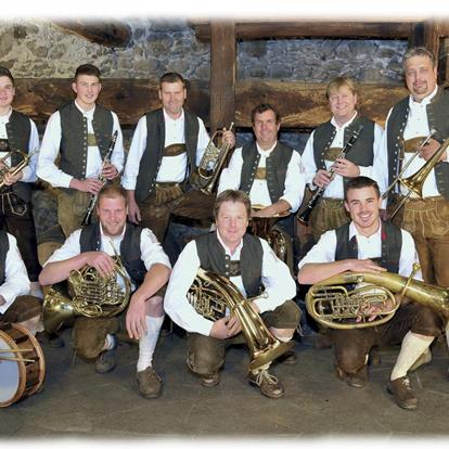 The Bohemian brass orchester of Parcines