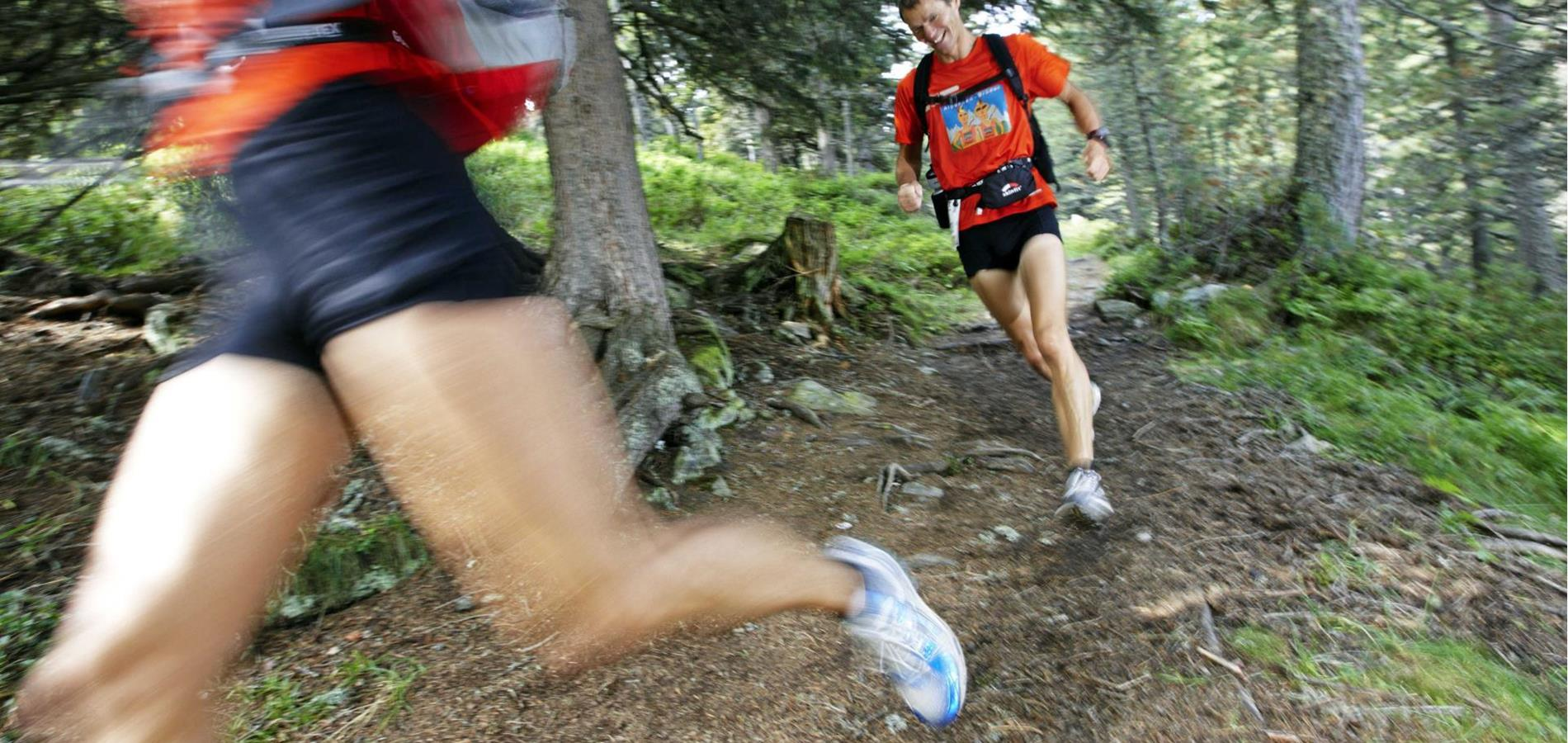 Trail running routes on the Parcines Monte Sole