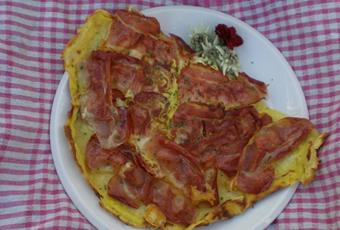 Farmer's omelette from the Vöraner Alm hut