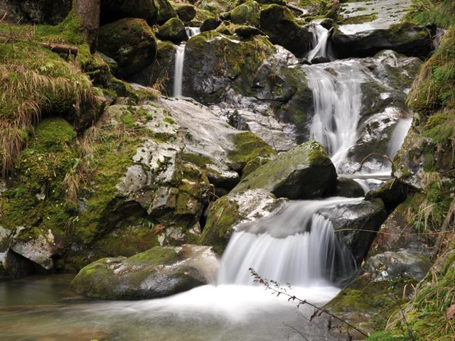 Waterfalls in Val Passiria Valley