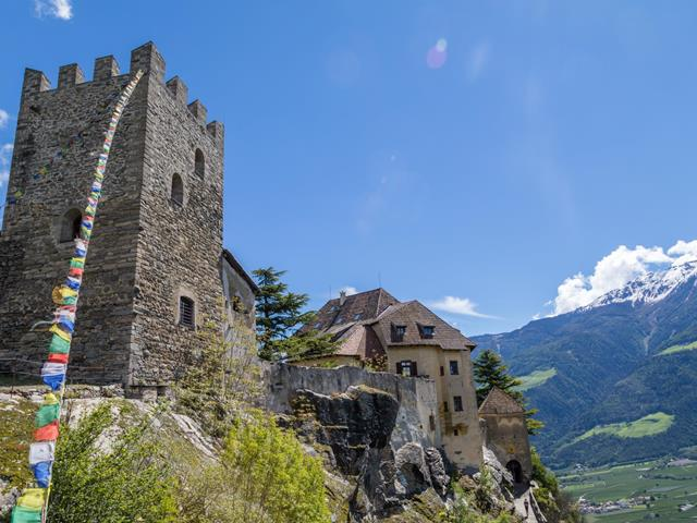 Juval Castle at the Entrance of the Schnalstal Valley