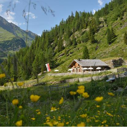 Mountain Huts in the Passeiertal Valley