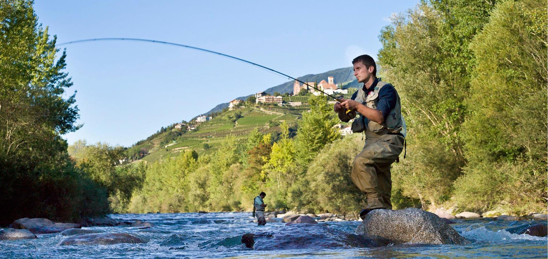 Fishing in Scena near Merano in South Tyrol