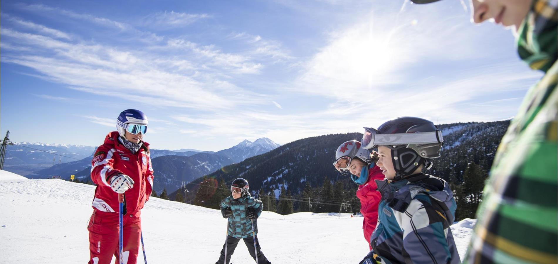 Skiing with Children in Lana and Surroundings