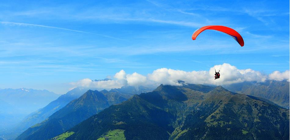 Paragliding in the Passeiertal Valley