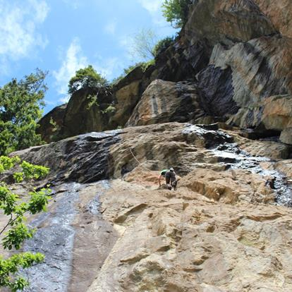 Climbing in the Passeiertal Valley