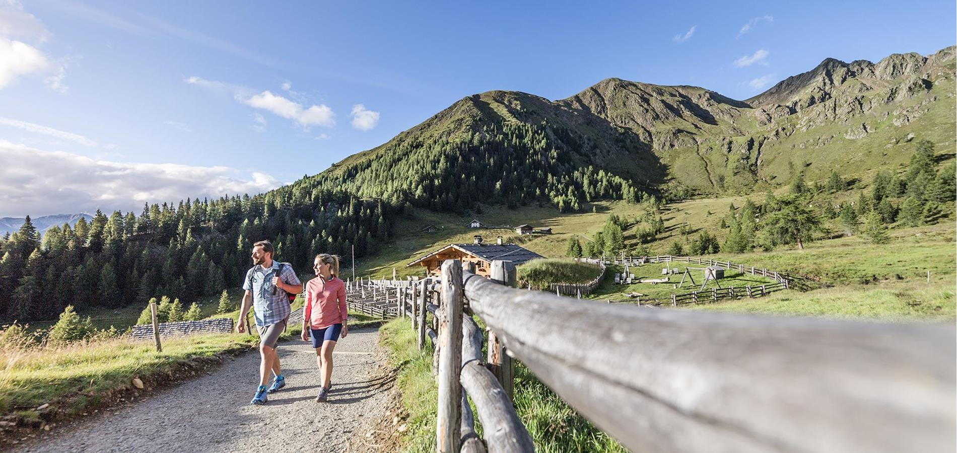 Active Holidays in Scena above Merano in South Tyrol