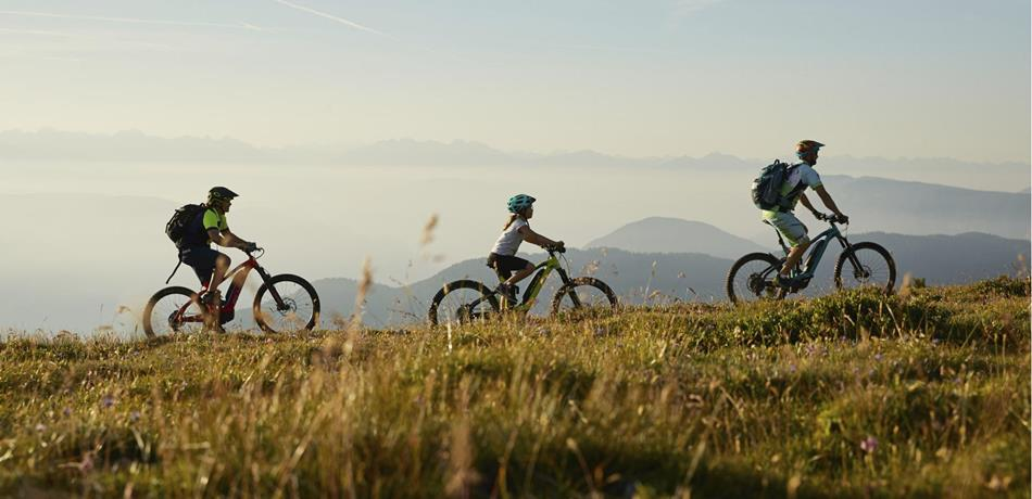 In mountainbike a Naturno