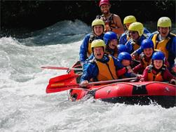 Rafting for children and adults