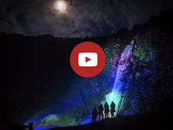 The intoxication of the senses - Night-time hike at the Partschins Waterfall