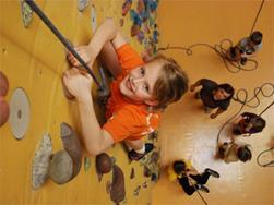 Climbing for children in the Rockarena Merano: