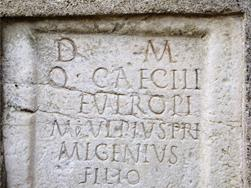 Grave stone from the Roman era - Via Claudia Augusta