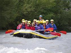 Rafting on the Etsch river
