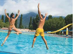The Lido Merano public outdoor swimming pool