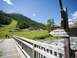 Merano High Mountain Trail Stage Suggestion No. 4: from the Eishof Farm to Pfelders/Plan