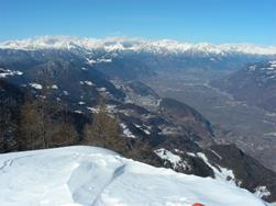 Winter hike from San Felice (1270 m) to Monte Macaion/Gantkofel (1865 m)