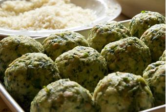 The Oberhochmuth's Nettle knoedel (dumplings)
