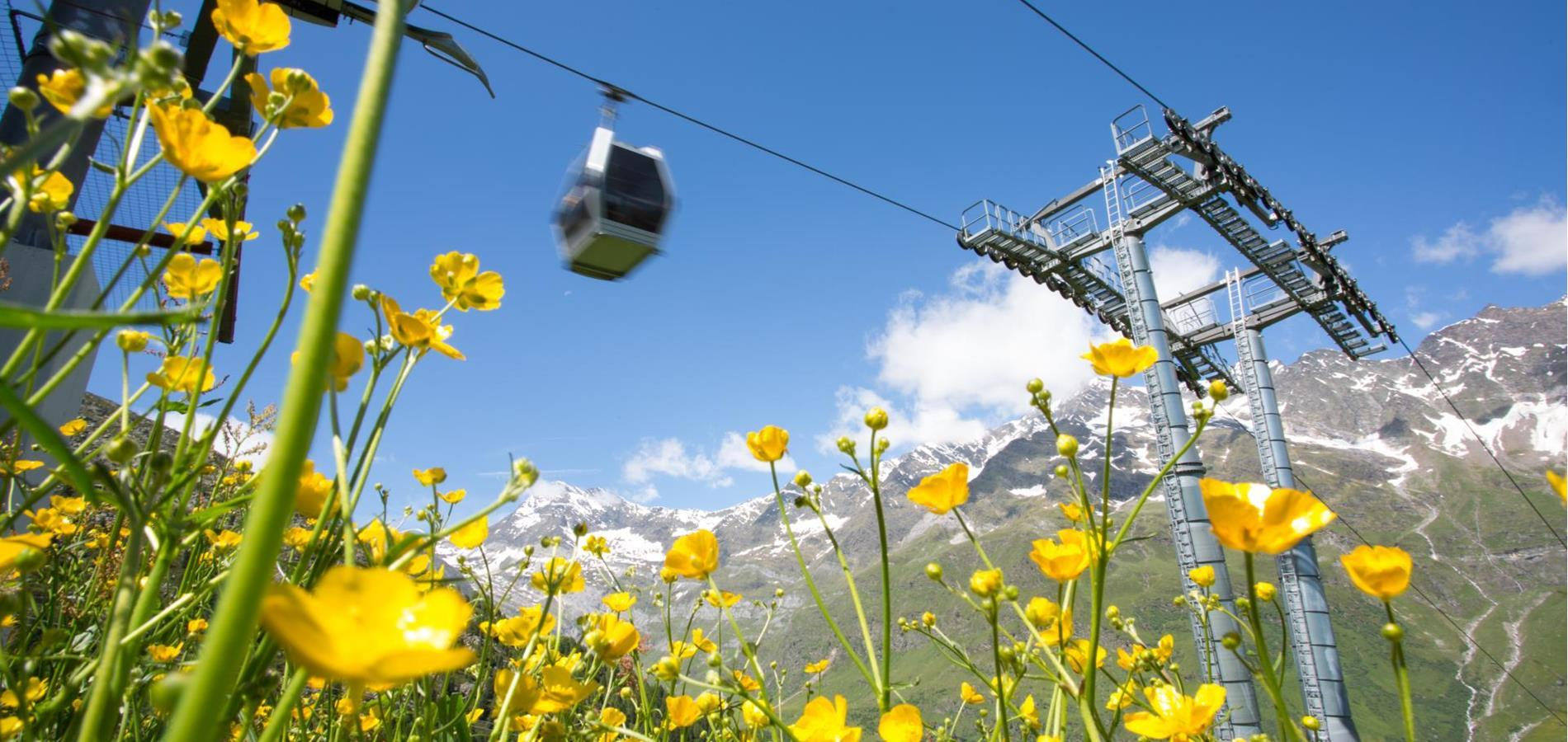 Cable Cars in the Passeiertal Valley