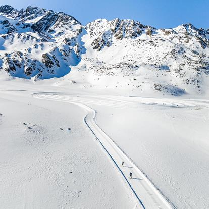 Cross-country Skiing in Schnalstal Valley